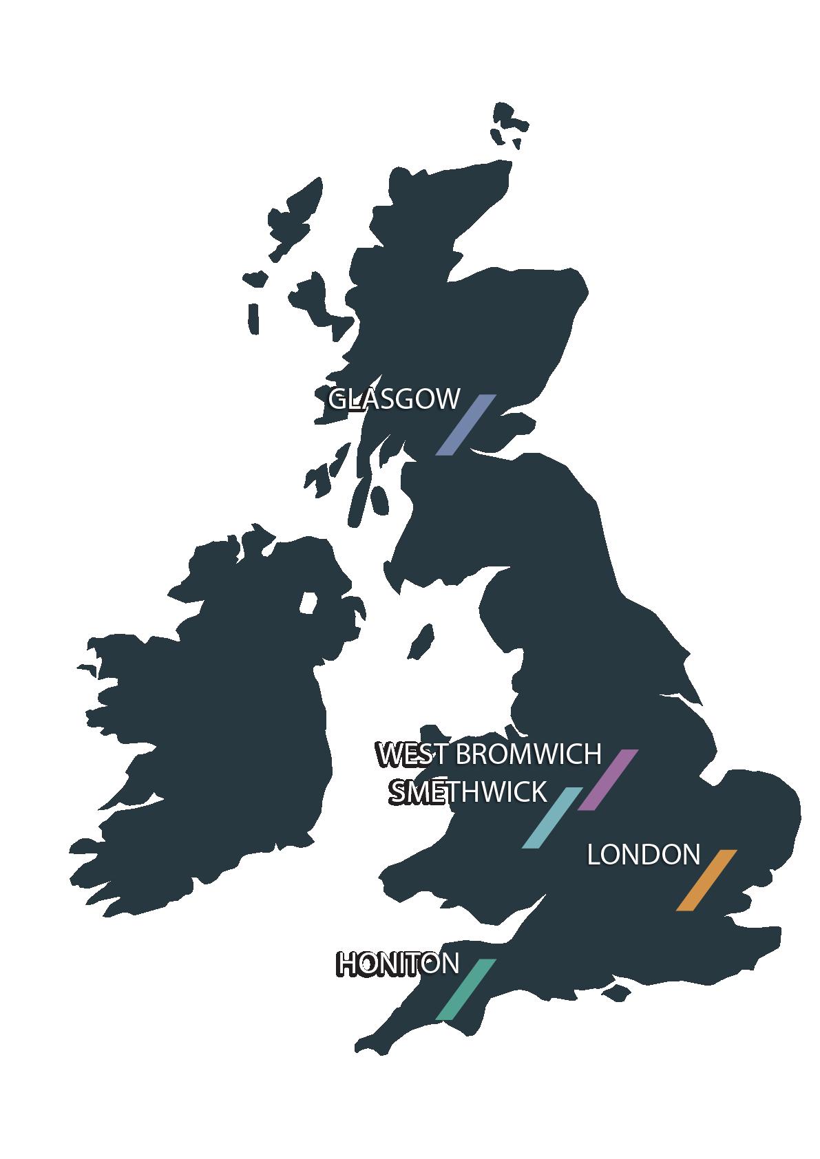 A&L locations map